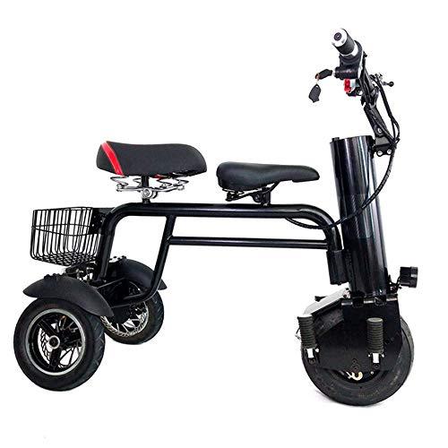 ZXWNB Älteres Reise-elektroauto, Kleines Elektroauto Lithium-elektroroller, Reiner Elektrorollstuhl Erwachsene Kinder Doppelsitz Dreirad-ladeauto