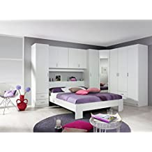 schlafzimmer schlafzimmermbel set schlafzimmereinrichtung 4 teilig spiegel bettbrcke - Schlafzimmer Mit Eckschrank