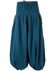Muckhose, Aladinhose mit breitem Bund petrol / Pluderhosen und Aladinhosen