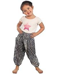 Lofbaz Fille Garçon Bébé Boho Harem Pantalons Aladdin été Combinaison Éléphant paon floral