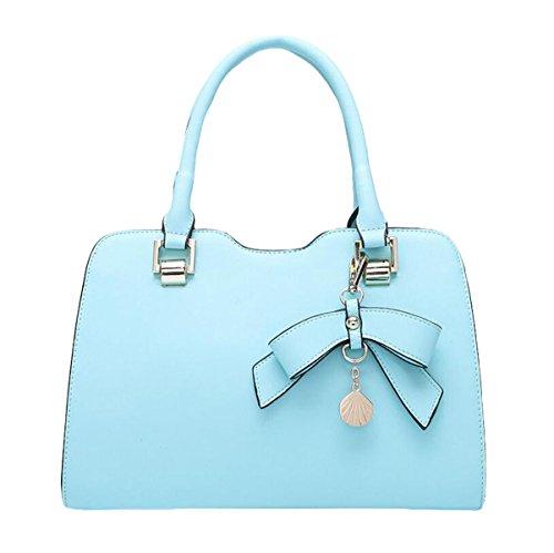 Sommerart Und Weise Wilde Beiläufige Art Und Weiselederhandtaschen-Schulterbeutel-Diagonalpaket Blue