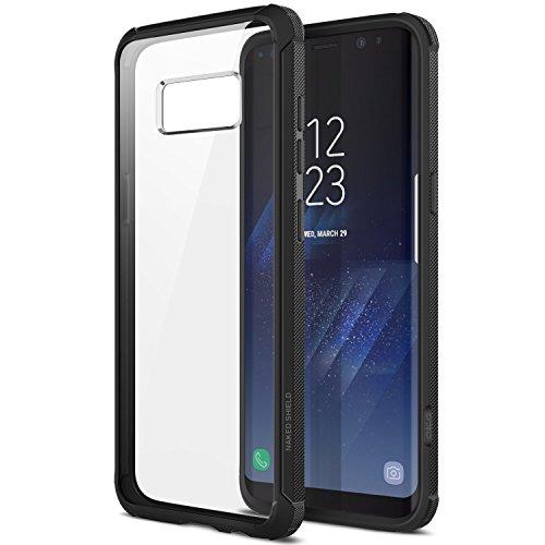 Obliq Galaxy S8 Plus Hülle, [Naked Shield] mit klaren stoßfestem Schutz TPU Bumper für Samsung Galaxy S8 Plus (2017) (Schwarz)