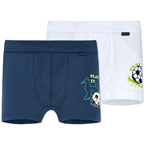 Schiesser Jungen Multipack 2pack Hip Shorts Slip, Mehrfarbig (Sortiert 1 901), 128 (2er Pack)