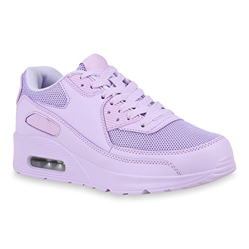 Damen Schuhe Sportschuhe Camouflage Runners Laufschuhe Sneakers 155171 Lila 39 Flandell