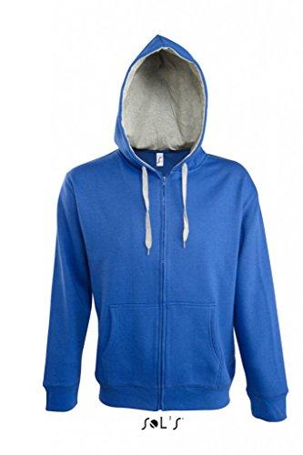 Contrasted Zipped Hooded Jacket Soul Men Black/Grey Melange