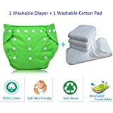 Toytle Eco-Friendly Reusable New Adjustable Washable Baby Cloth Diaper, 0-2 Years