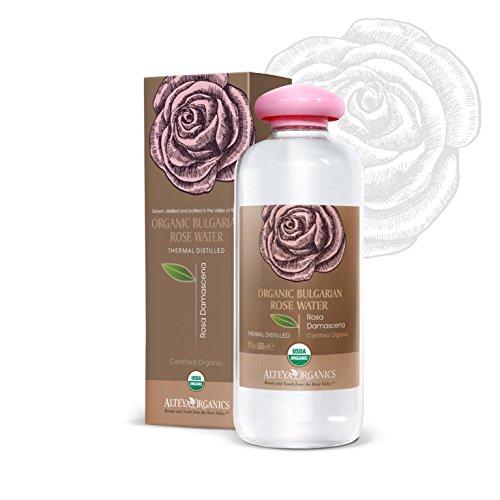 Alteya Organic Eau de rose bulgare 500ml - Certifiée 100% organique USDA, GRANDE BOUTEILLE Pure, naturelle, bio et authentique, Eau florale distillée à la vapeur à partir de pétales fraiches de fleurs de Rosa Damascena bulgare, Vendue directement par le producteur et le distillateur de la rose Alteya Organics du cœur de la Vallée des roses bulgare