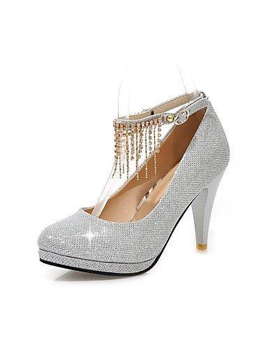 ShangYi Chaussures Femme - Mariage / Extérieure / Habillé / Décontracté - Noir / Rouge / Argent / Or - Talon Cône - Confort / Bout Arrondi - Red