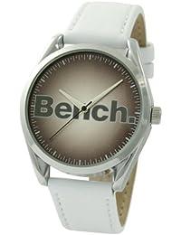 Bench BC0190BRWH - Reloj analógico de mujer de cuarzo con correa de plástico blanca