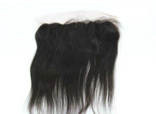40,6 cm brésiliens vierges Fermeture dentelle cheveux soyeux droite/haut Fermeture (33 x 10,2 cm) couleur naturelle 120% Densité
