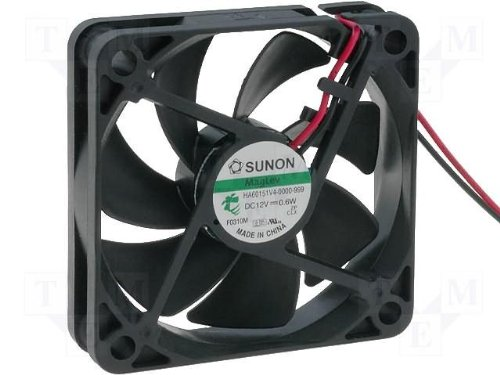 Sunon Lüfter 60x60x15mm HA60151V4-999 DC 12V 2500 U/min 15dBA Vapolager mit MLS (60mm Fan Ac)
