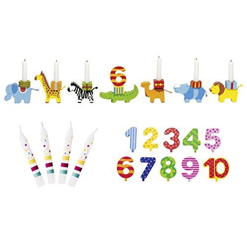 Preisvergleich Produktbild Goki Geburtstagszug Tierparade Zahlen 1-10 10 Kerzen Susibelle - Die LuLuGoS