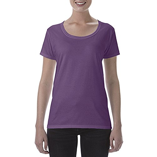 Gildan Damen Kurzarm Scoop T-Shirt Azalee