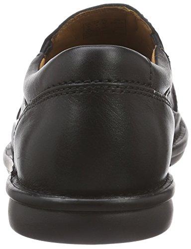 Clarks Butleigh Free, Chaussons Bas pour la Maison, Doublure Froide Homme Noir (Black Leather)