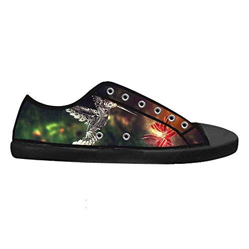 Dalliy Hummingbird And Flower Men's Canvas shoes Schuhe Lace-up High-top Sneakers Segeltuchschuhe Leinwand-Schuh-Turnschuhe B