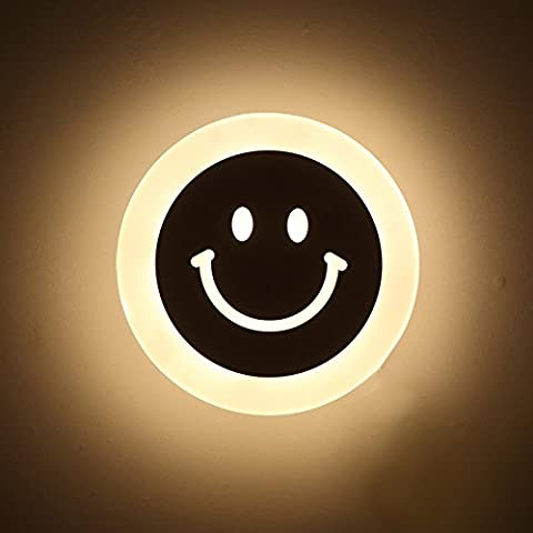 LLHZ-creativo sonrisas LED lámpara de pared LED lámpara de pared baño pasillo pasillo dormitorio lámpara de pared LED lámpara de pared de cabecera