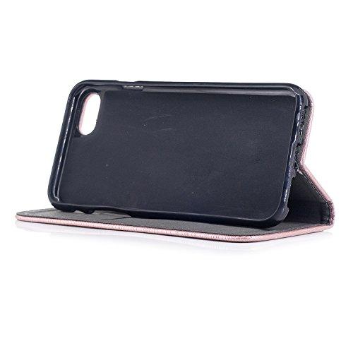 Per iPhone 8 / iPhone 7 Cover , YIGA Tree texture grigio Retro Modello Design Con Book style Internamente Silicone TPU Cover Flip Funzionalità di Supporto cuoio Case in Premium pelle Protettiva Flip C sw-black