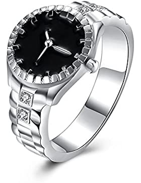 Hunpta Mode Frauen Mens Zifferblatt Quarz analoge Uhr kreative Cool Stahllegierung Finger Ring Uhr