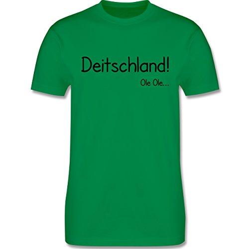 Fußball EM 2016 - Deitschland Ole Ole - L190 - Premium Männer Herren T-Shirt mit Rundhalsausschnitt Grün