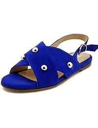 Da 100 Sandali Eur Camoscio 50 Blu Scarpe Donna Tacco YqIW0