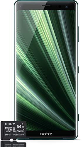 Smartphone Sony Xperia XZ3Bundle, con Pantalla OLED de 6Pulgadas (15,2 cm), Doble SIM, 64GB de Memoria Interna, 4GB de RAM, Android 9.0 y Tarjeta de Memoria de 64GB,versión Alemana