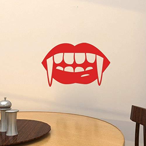 Red Vampire Kiss Skull Lip Wandaufkleber Sexy Aufkleber Abziehbild Dekor Mädchen Lippenstift Autos...