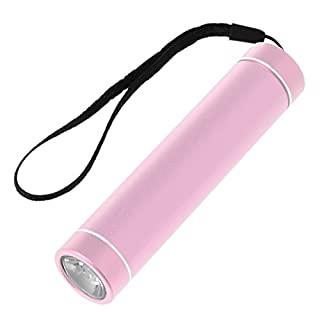 Junlinto Multifunktions-Pocket Mini Kleine Taschenlampe USB Akku, Rose Gold, Approx 10.8×2.4cm