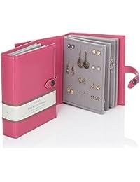 Little Book of Earrings Storage - Bon Bon Pink