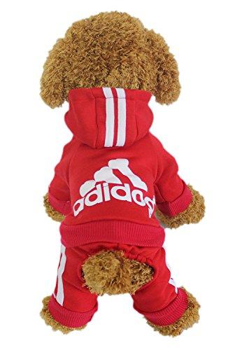 l Warm Wintermantel Haustier Mantel Hund Kleider, Rot XXL ()