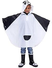 Children's PVC Panda Poncho / Raincoat One Size Age 4-8