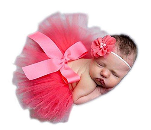 Baby Newborn Kostüm Fotoshooting Babyfotos Haarband mit Tutu Petticot (Kostüm No Name)