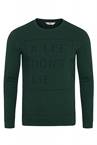 Lee Herren T-Shirt Don't Lie Tee Ls Grün