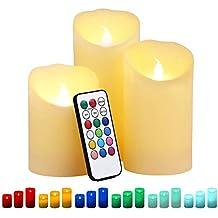LED Teelicht Wasserkerze Kerze wasserdicht 10 LEDs Fernbedienung weiß multicolor