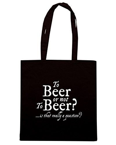 T-Shirtshock - Borsa Shopping BEER0138 To Beer or not to Beer Nero