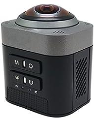 iflying WiFi Deporte DV D5360DEGREE Full View VR cámara ojo de pez esfera vídeo videocámara, color negro