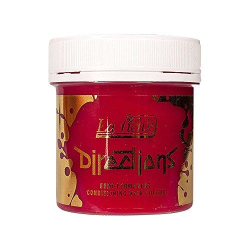 La Riche Directions Semi-Permanente Haarfarbe 4er Pack (Poppy Red) + KOSTENLOSES Blue Banana Sugar Skull Täschchen