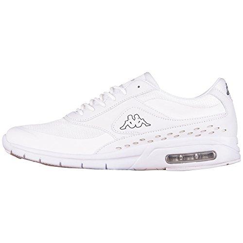 Kappa - Milla M Footwear Men, Synthetic/Mesh, Scarpe da ginnastica Unisex - Adulto Bianco (Weiß (1010 white))