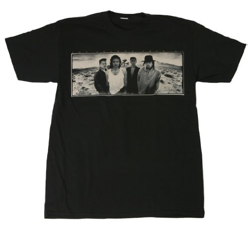 Joshua Tree U2–camiseta para hombre suave negro negro Large