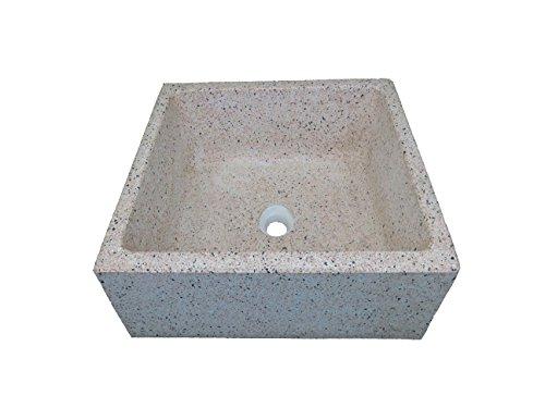 Lavello cucina in pietra pilozzino (cm36x45x20h, rosa levigato)