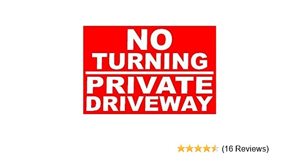 Private Driveway No Stopping Or Turning A4 Pre-Drilled Plastic Sign Red  Black