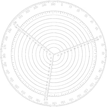 CUHAWUDBA Center Finder Tool Woodworking Compass for Woodturners Bowls Lathe Work Clear Acrylic Drawing Circles Diameter 200Mm