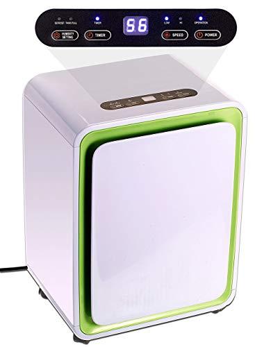 Sichler Haushaltsgeräte Luftenfeuchter: Digitaler Luftentfeuchter mit Timer für Räume bis 30 m², 12 Liter/Tag (Elektrischer Luftentfeuchter)