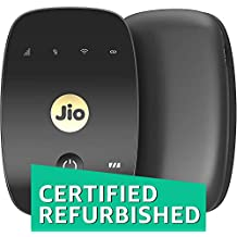 (CERTIFIED REFURBISHED) JioFi 4G Hotspot M2S 150 Mbps Jio 4G Portable Wi-Fi Data Device (Black)
