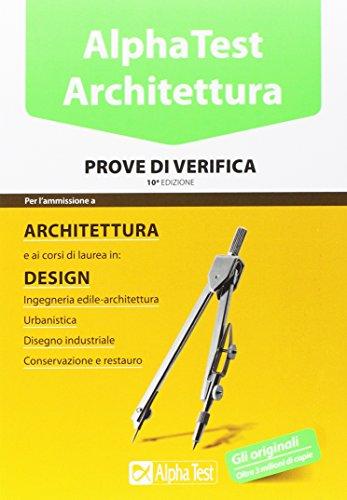 Libro alpha test architettura kit completo di for Software di progettazione di architettura domestica