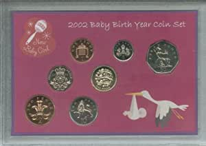 New Born Baby Girl (Parent Mum Dad Year of Birth Keepsake Present) Coin Display Gift Set 2002