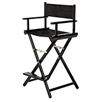 Aluminum professional black makeup chair