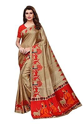 Anni Designer Women's Khadi Mix Fabric Saree With Blouse