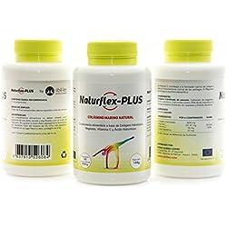 NaturFlex-Plus. PACK AHORRO 3 BOTES. Colágeno Marino Natural + Magnesio + Ácido Hialurónico + Vitamina C . 540 Comp. 432 gr.