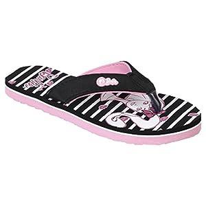 Barbie Kids Girls Black/Pink Color Flip-Flop(Size -11)