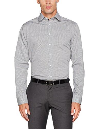 Seidensticker Tailored Bügelfrei, Camicia Formale Uomo Grigio (Grau 36)
